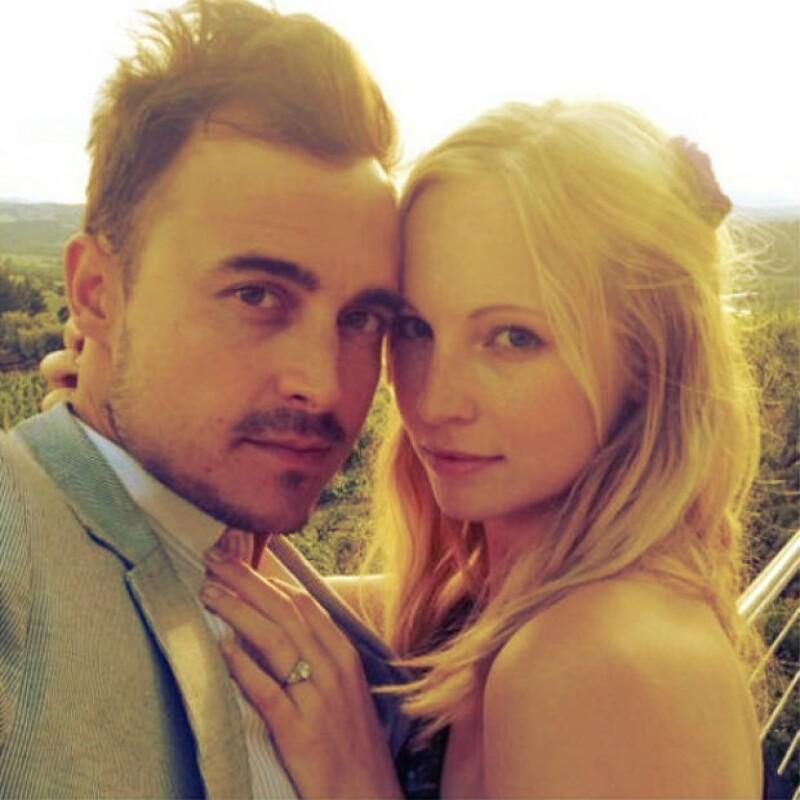 Candice y Joe anunciaron su compromiso en mayo del año pasado.