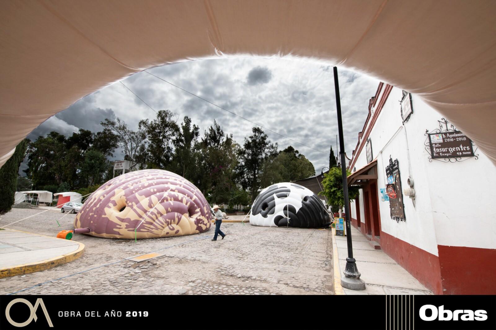 Museo Inflable Itinerante Tocando al Mismo Son, Instalaciones Efímeras