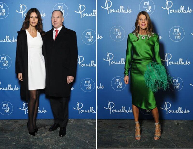 Elsa Benítez y Anna Dello Russo asistieron a la presentación de la colección en Milán.
