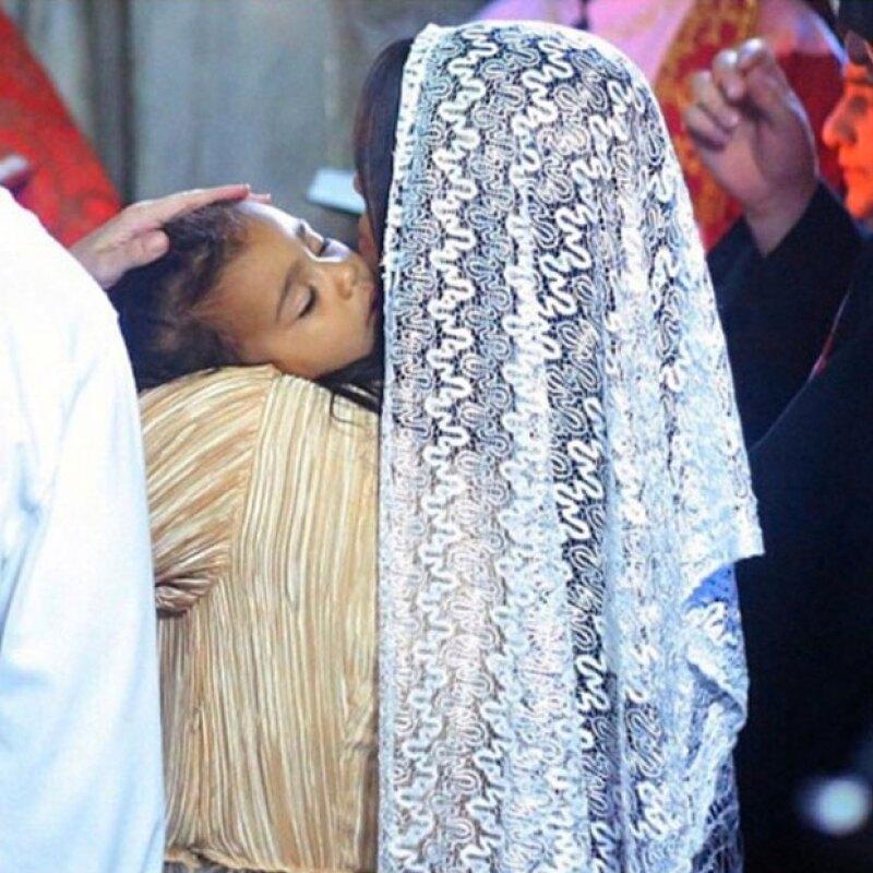 La pequeña North fue bautizada por la iglesia cristiana de Armenia.
