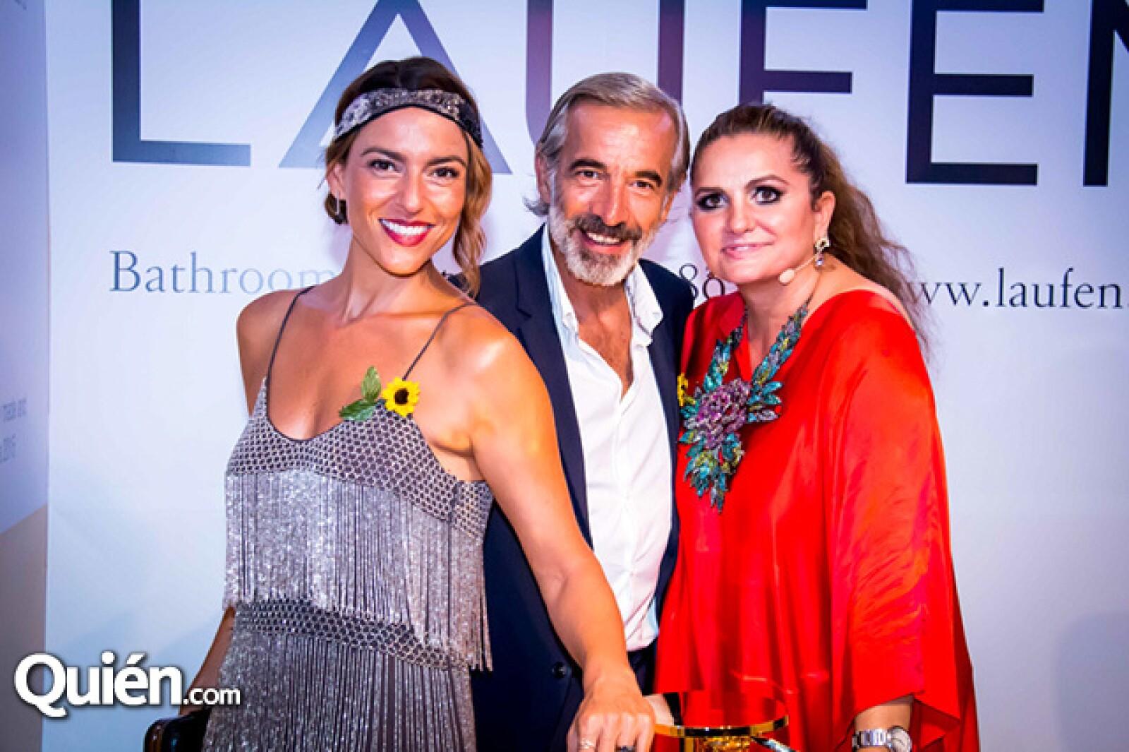 Imanol Arias, Irene Meritxell y Sandra García-Sanjuán