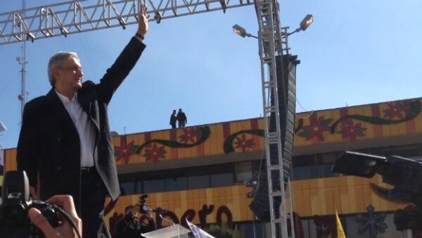Lopez Obrador durante inicio de precampaña