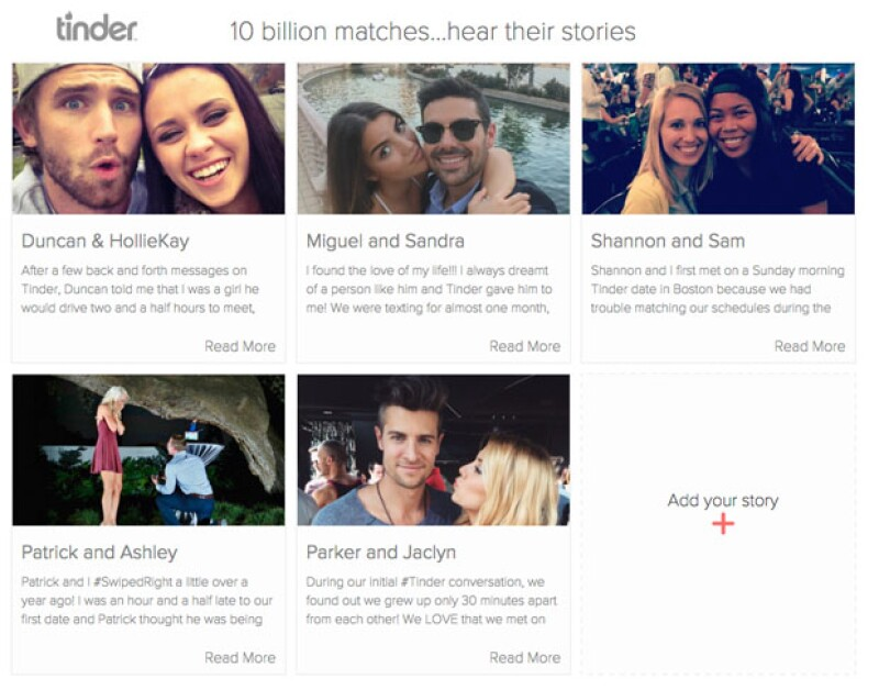 Gracias a su popularidad, Tinder ya cumplió 10 billones de 'matches'.
