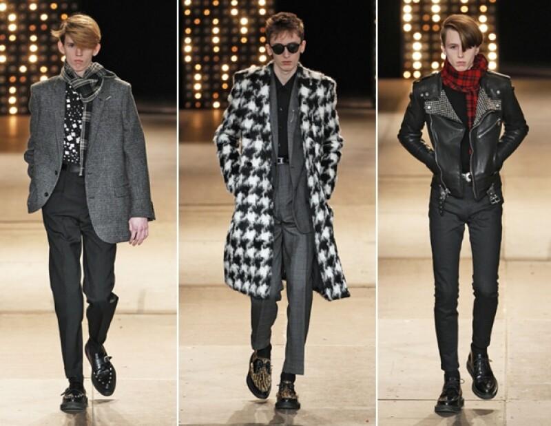 ¿Hay mejor forma de usar las texturas? Saint Laurent nos enamoró con sus combinaciones invernales.