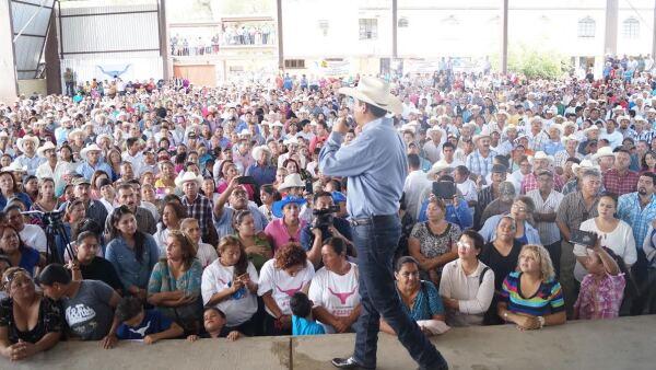 """Es el único de los ocho candidatos a gobernador que ha logrado entrar al """"triángulo"""" en los municipios de Villagrán, Mainero e Hidalgo."""