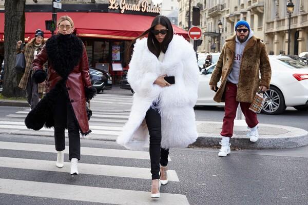 Street Style, Fall Winter 2018, Paris Fashion Week, France - 28 Feb 2018