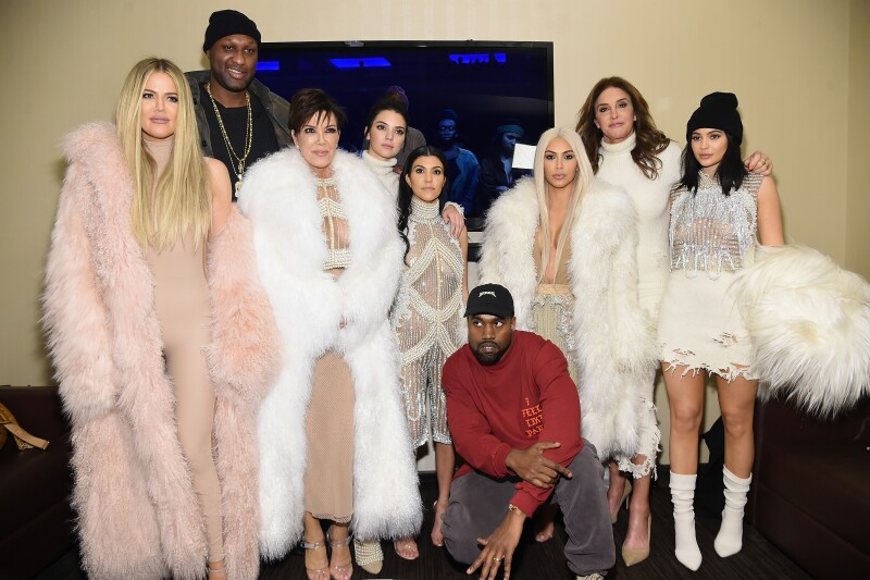 La familia entera en un evento del esposo de Kim Kardashian, el rapero Kanye West.