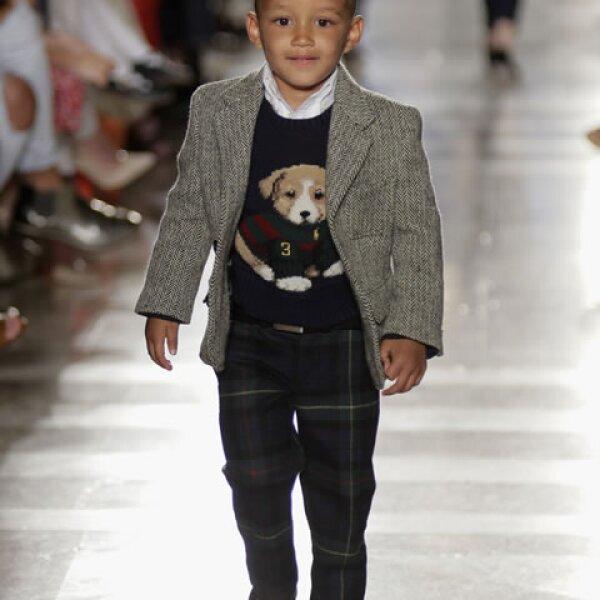 Otro niño modelo es Egypt, hijo de Alicia Keys. Fue el protagonista del desfile de la colección otoño 2014 de Ralph Lauren Children.