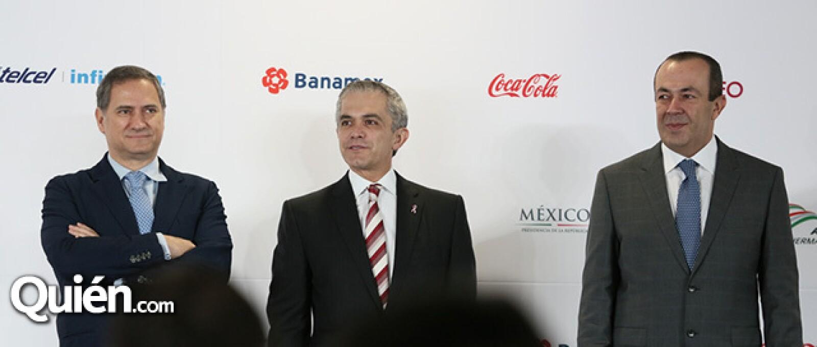 Alejandro Soberón, Miguel Ángel Mancera y Francisco Maz