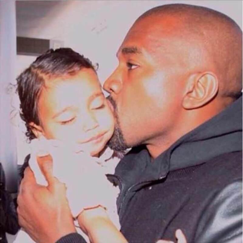 Con esta imagen Kim agradeció a Kanye su labor de padre.