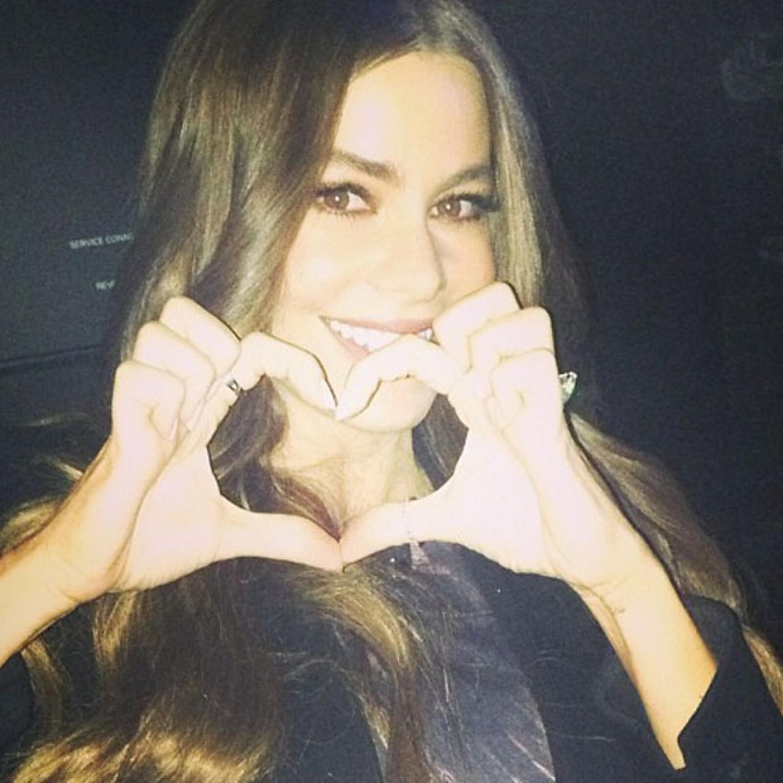 La actriz Sofía Vergara deseó feliz día de San Valentín a todos sus seguidores de Twitter e Instagram.