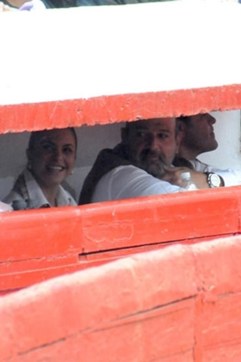 Lucero y Michel Kuri en la Plaza de Toros México en febrero pasado.