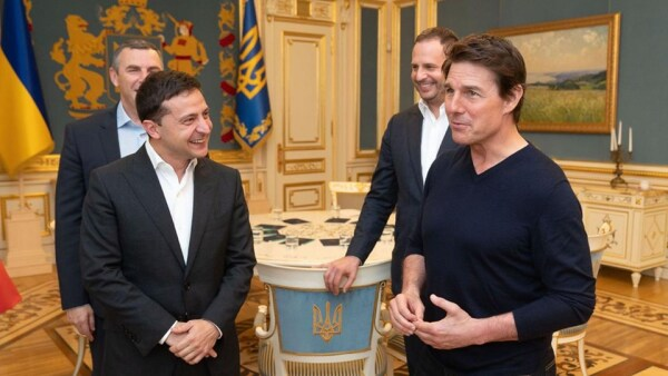 Volodímir Zelenski y Tom Cruise