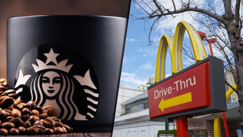 Starbucks y McDonald's