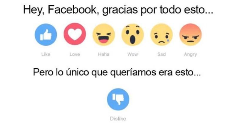 ¡Ni Facebook se salva de los memes! Y es que después de presentar la nueva función de botones en su red social, varios usuarios aprovecharon la ocasión, creando memes divertidos y sarcásticos.