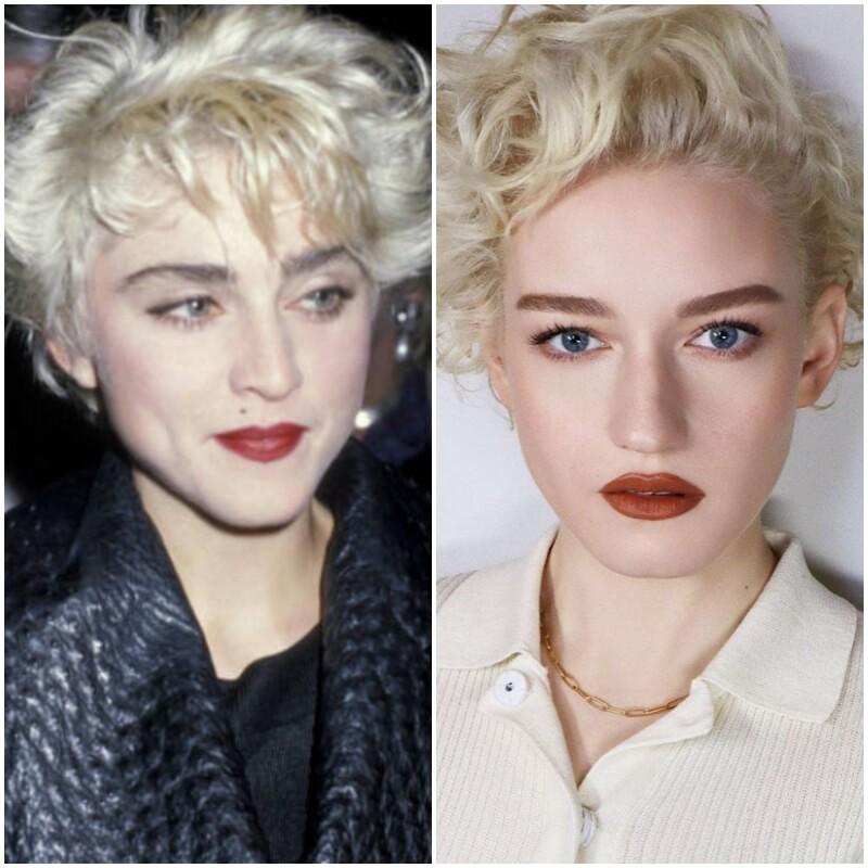 Madonna y Julia Garner