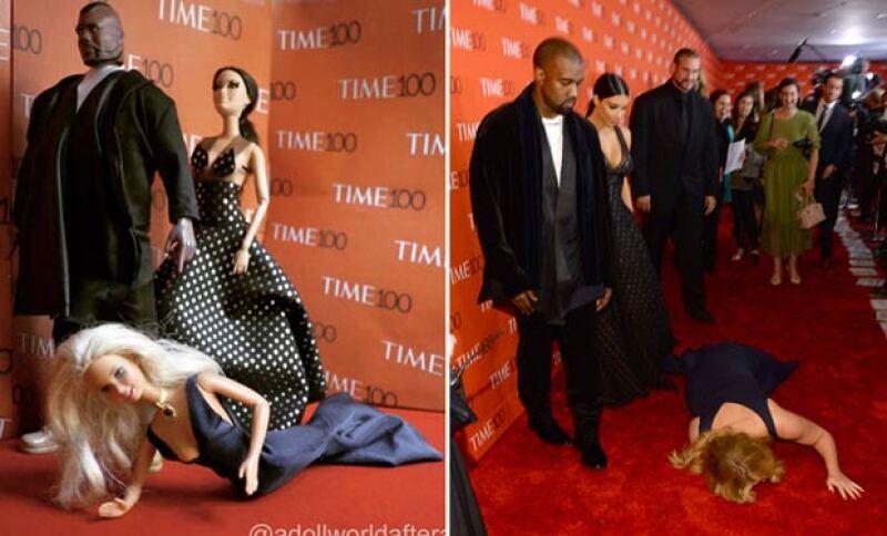 La comediante trató de opacar a la pareja en un evento de la revista Time.