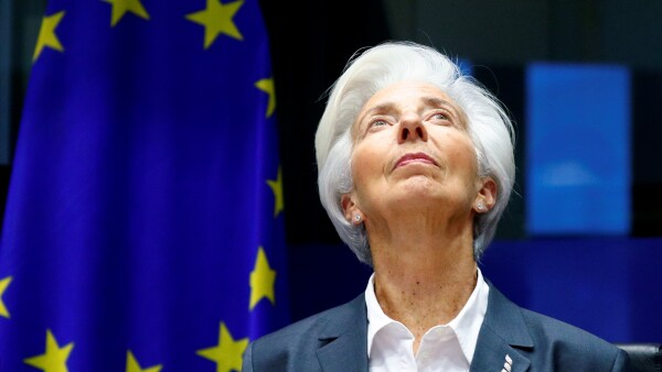 FILE PHOTO: ECB President Lagarde testifies before the EU Parliament's Economic and Monetary Affairs Committee in Brussels