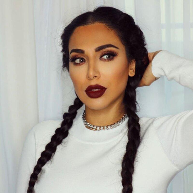 Incluso, Huda ha decidido llevar trenzas como Kim.