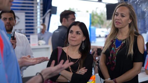 Mariana Chávez y Marisa Abedrop