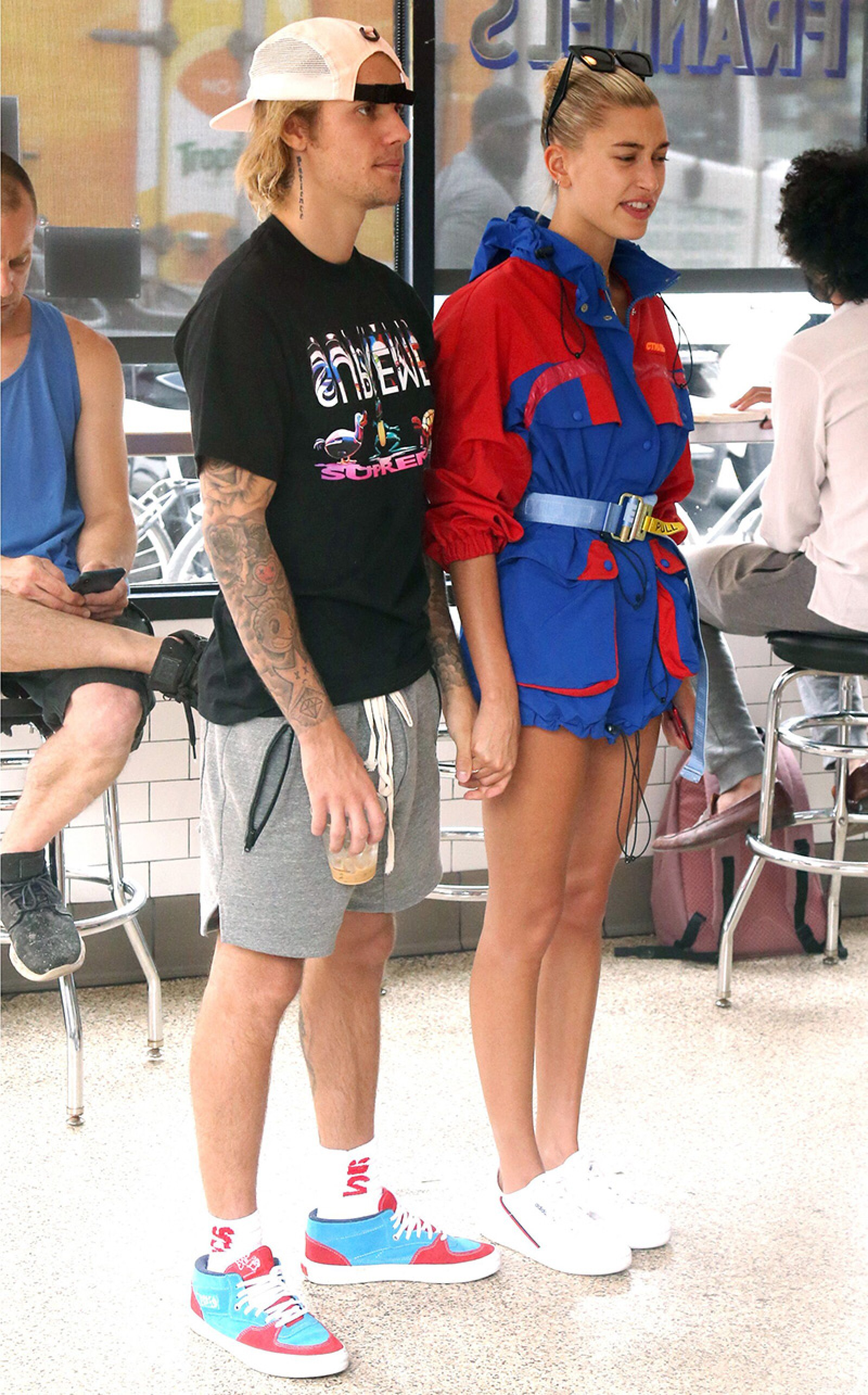 Justin Bieber and Hailey Baldwin out and about, New York, USA - 30 Jul 2018
