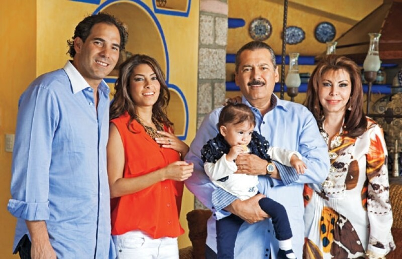 La familia de Manlio Fabio Beltrones.
