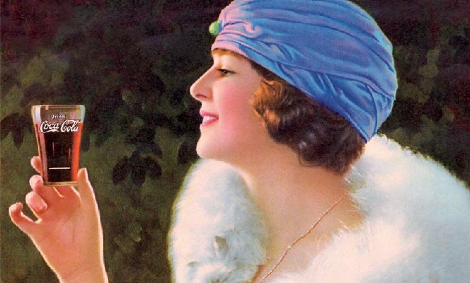 Imagen de una joven de la década de los 20s usada en varios calendarios y charolas de servir en 1924.