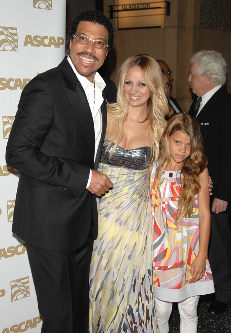 Lionel, Nicole y Sofia Richie en el 2008.