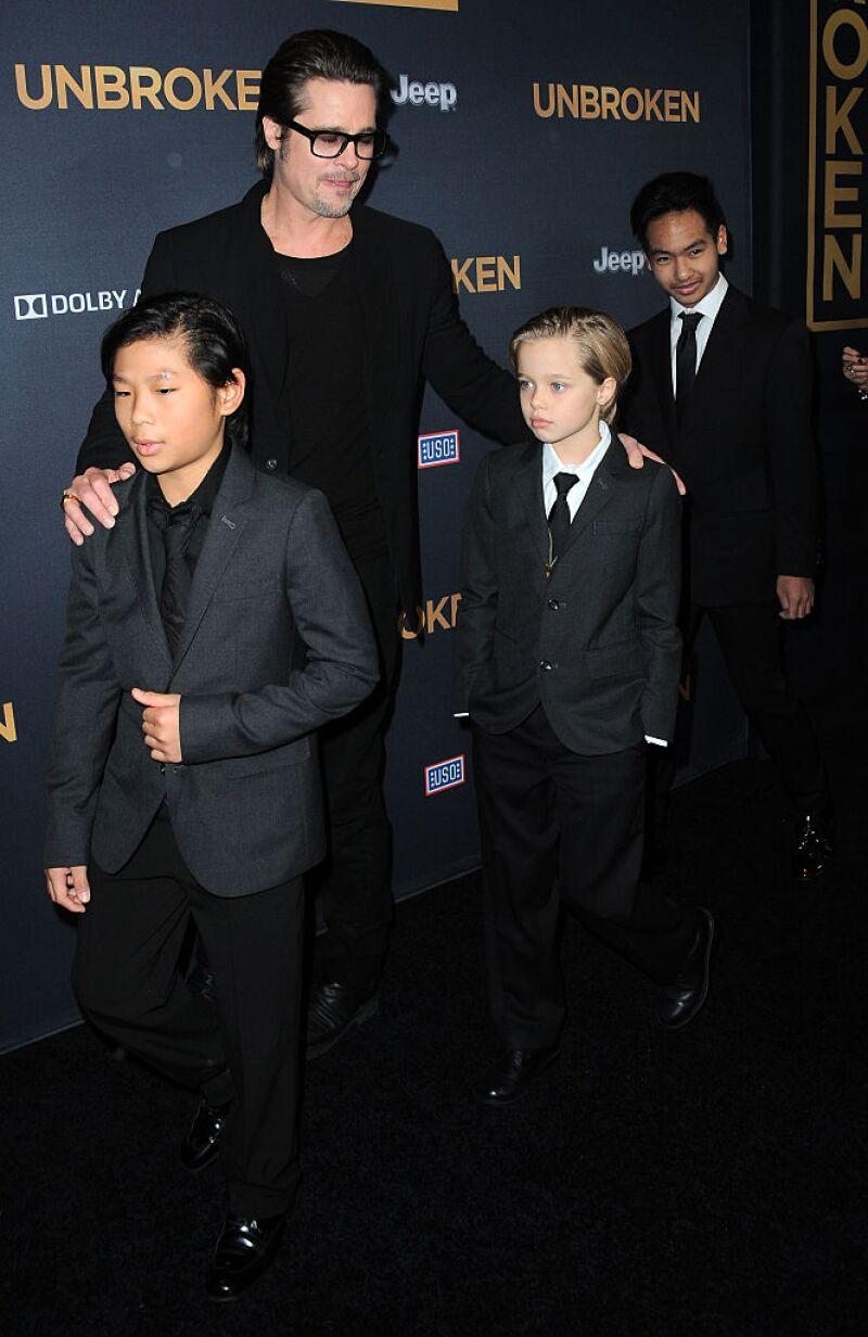 Brad Pitt, Pax, Shiloh y Maddox