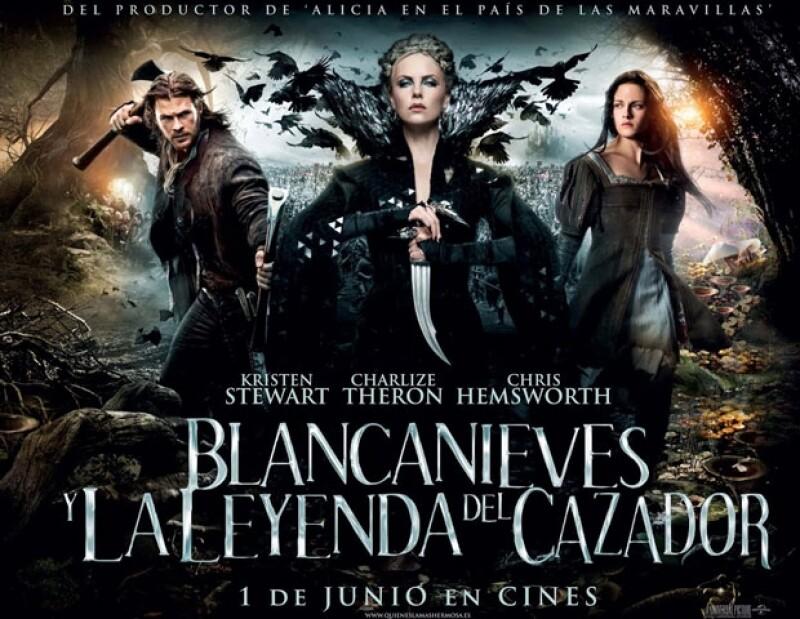 En la película comparte créditos con Charlize Theron y Chris Hemsworth.