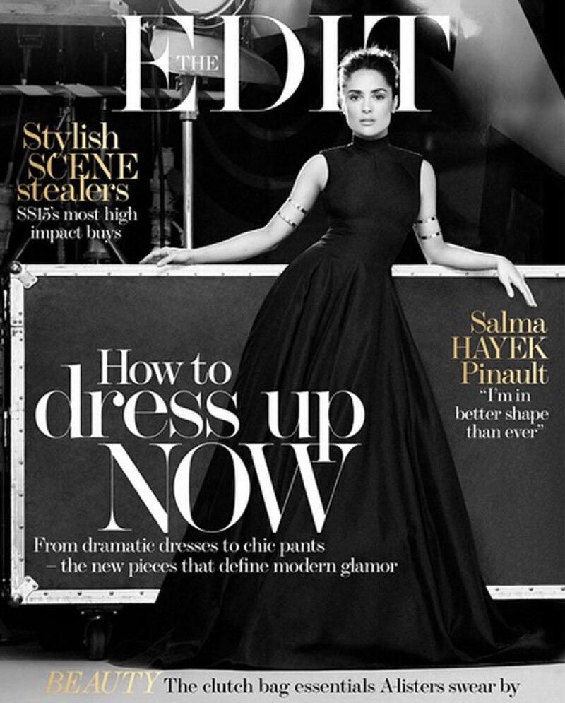 Con unas imágenes en las que se muestra con una elegancia insuperable, la revista The Edit describe a la actriz mexicana como una heroína que lo ha logrado todo.