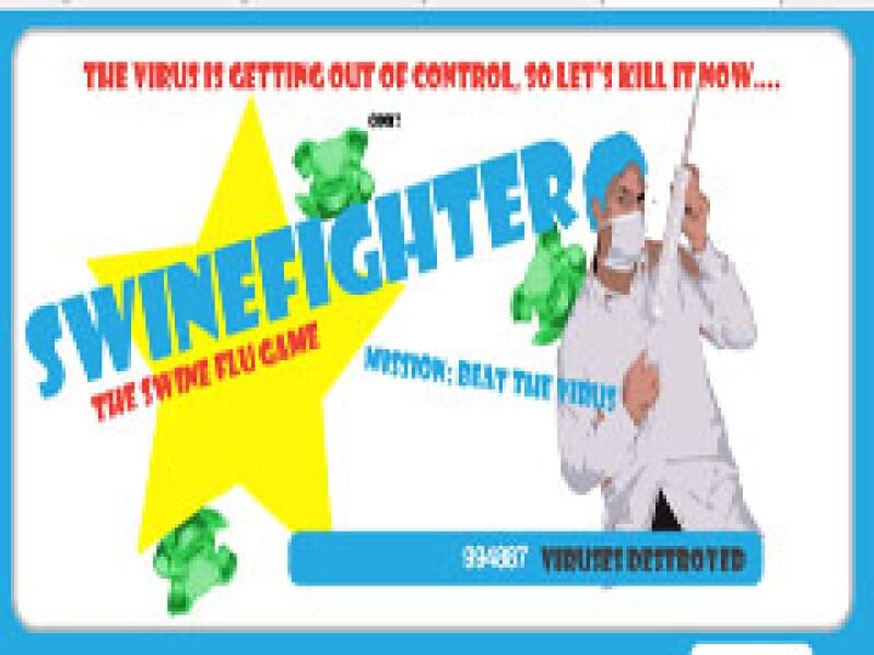 SwineFighter es el nuevo juego que permite fulminar a la influenza. (Foto: Cortesía)