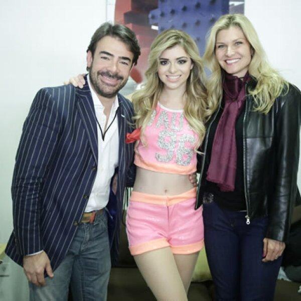 Toño Mauri, Carla Mauri y Carla Alemán.