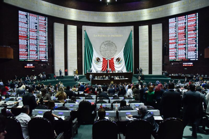 Se llevo a cabo la Sesión Ordinaria ante el pleno de la Cámara de Diputados.