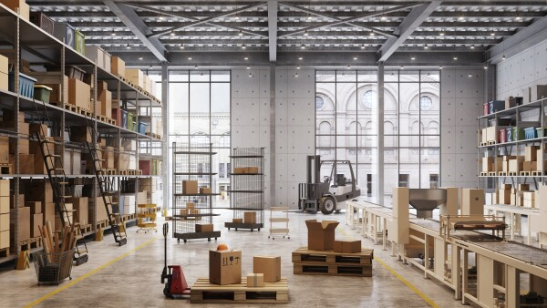 Factory warehouse interior