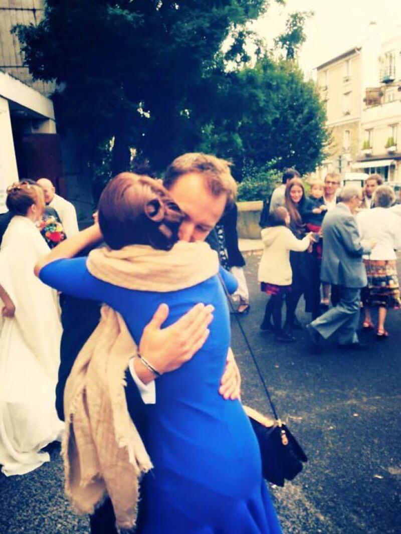 Después de la boda civil, Arnaud y Claire se casaron por la iglesia.