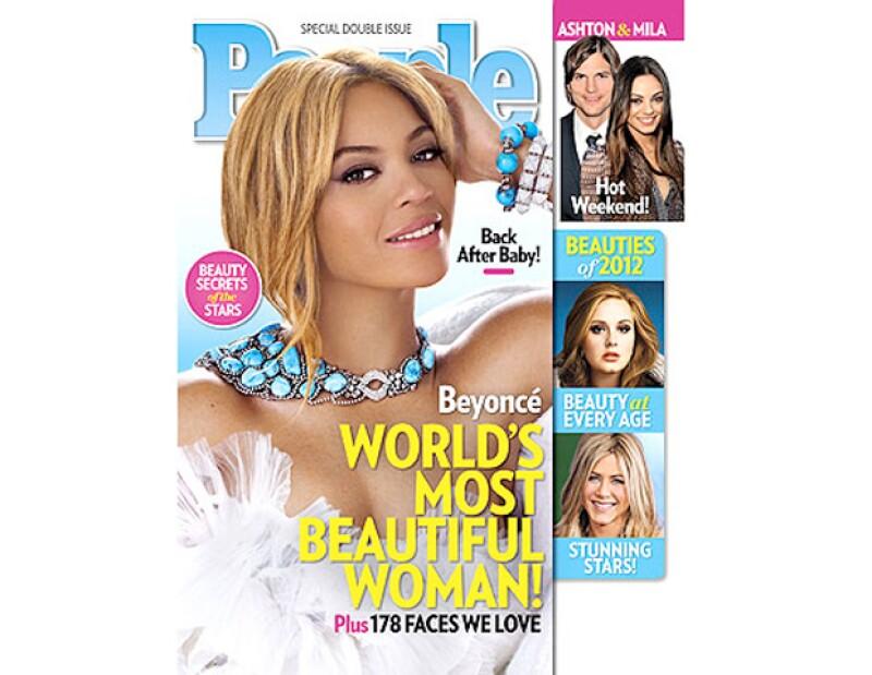 Como cada año la revista People seleccionó una famosa para representar a la estrella más bella del entretenimiento, en esta ocasión la mamá de Blue Ivy se llevó la mención.