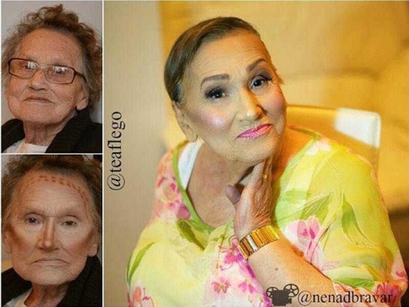 Kardashians who?! La señora, mejor conocida como Livia, está causando sensación por sus habilidades e increíble transformación a la hora de maquillarse.