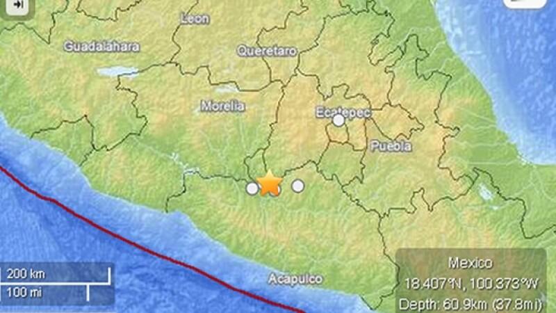 Mapa sismo Ciudad Altamirano, Guerrero, México