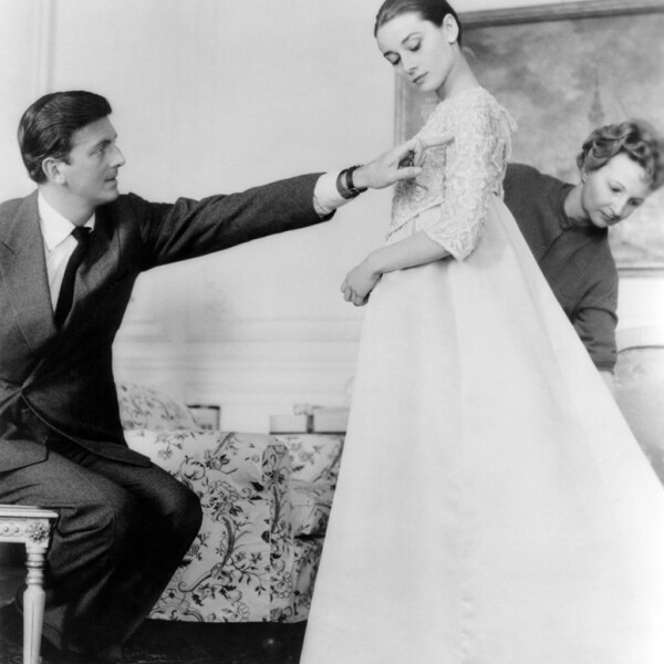 Hubert de Givenchy with Audrey Hepburn