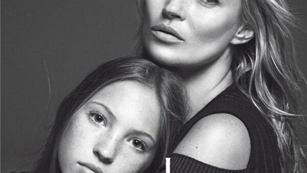 Lila Grace Moss ya sigue los pasos de su guapa mamá -quien se convirtió en modelo a los 14 años-, y por primera vez protagoniza junto a Kate una portada.