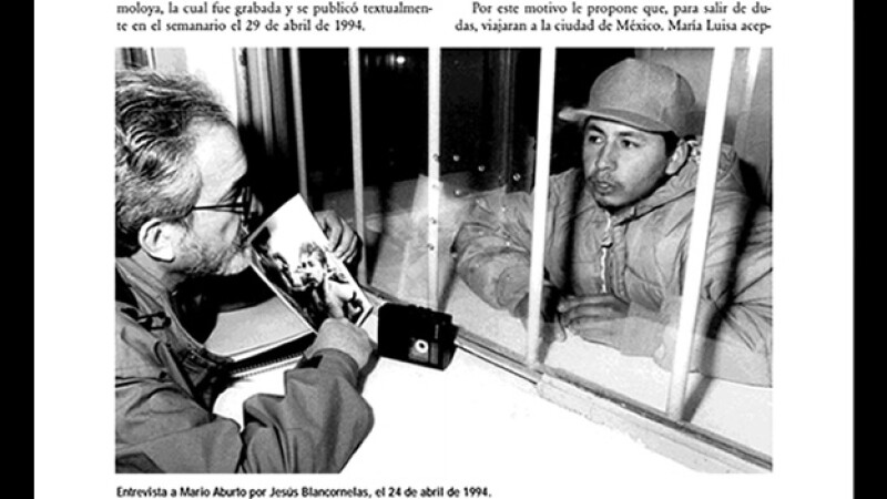 Mario Aburto entrevistado por el periodista Jesús Blancornelas en 1994