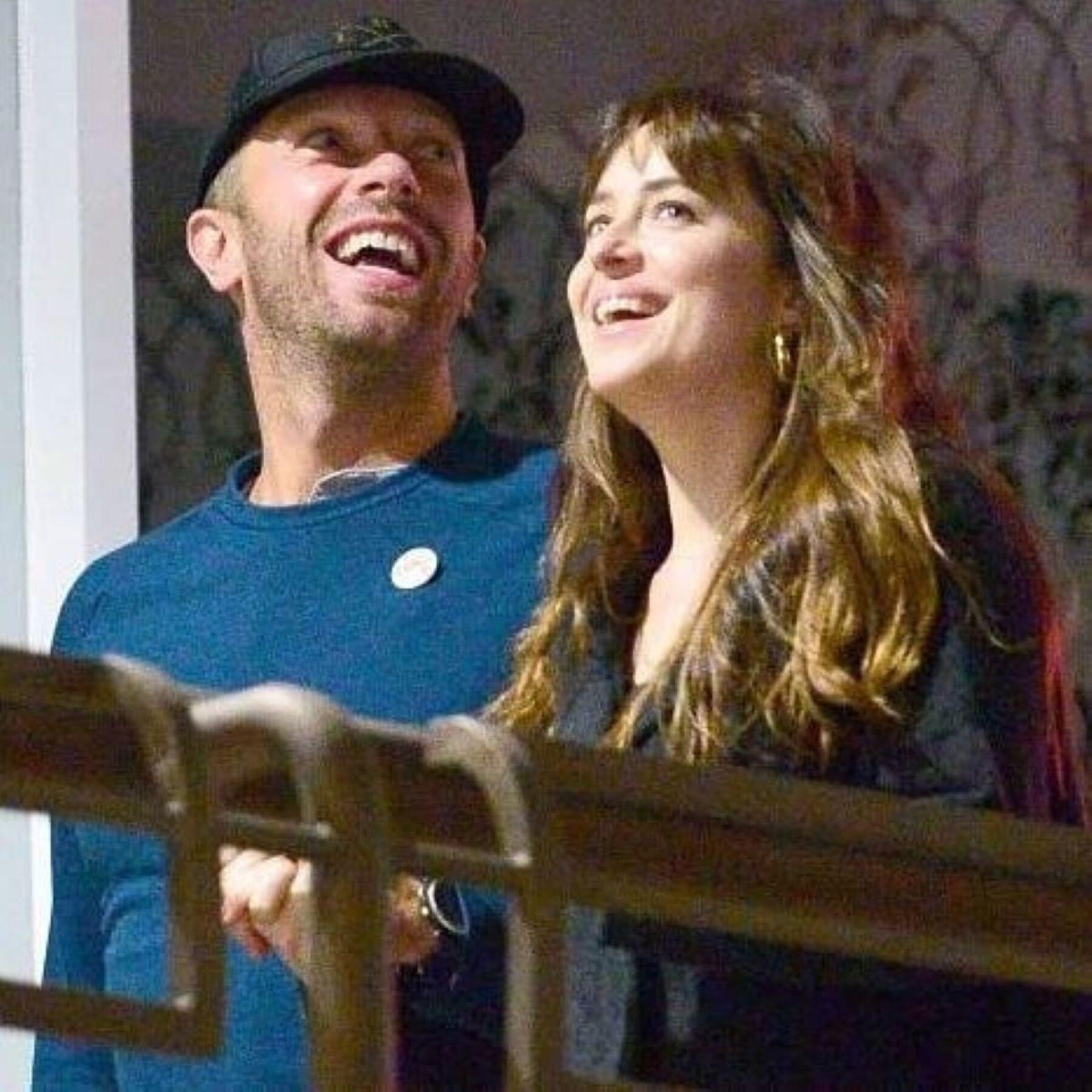 Dakota Johnson y Chris Martin