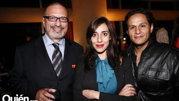 Clemente Cámara, María Fernanda Vergara y Juan Pablo Castel