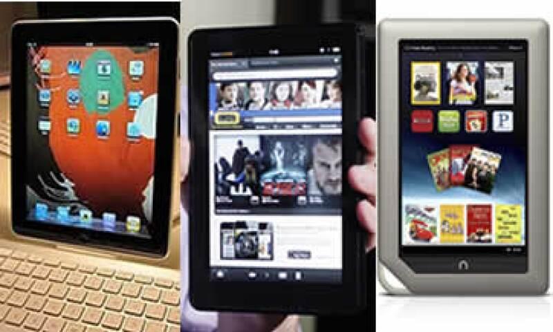 La iPad, Kindle Fire y Nook han abierto la guerra de las 'tablets' en medio de la Navidad. (Foto: Especial)