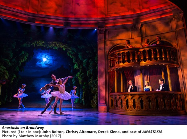 [4676]_ John Bolton, Christy Altomare, Derek Klena, and cast of ANASTASIA in ANASTASIA on Broadway, Photo by Matthew Murphy, 2017