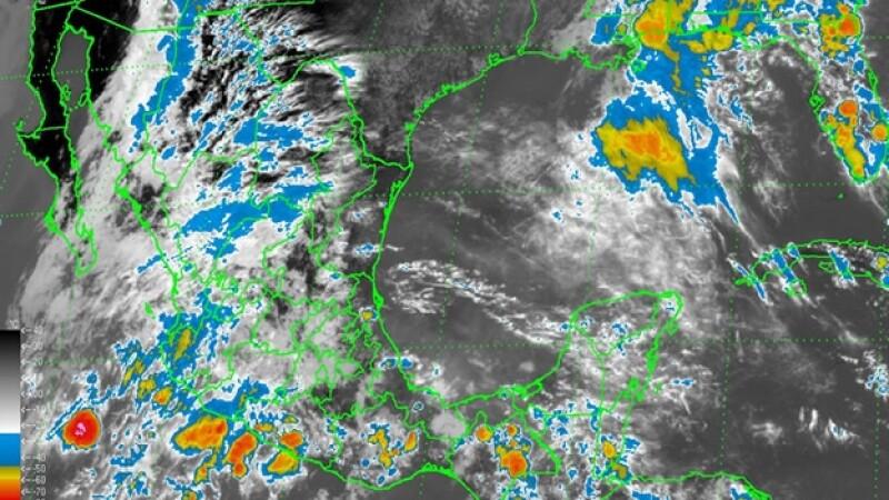 El trayecto de la baja presión remanente 'Amanda' que provocará lluvias en las próximas horas