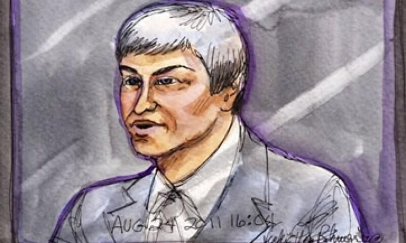 Larry Page, CEO de Google subió al estrado por segundo día como parte de un juicio que enfrenta con Oracle. Este es un dibujo del proceso legal. (Foto: Reuters)