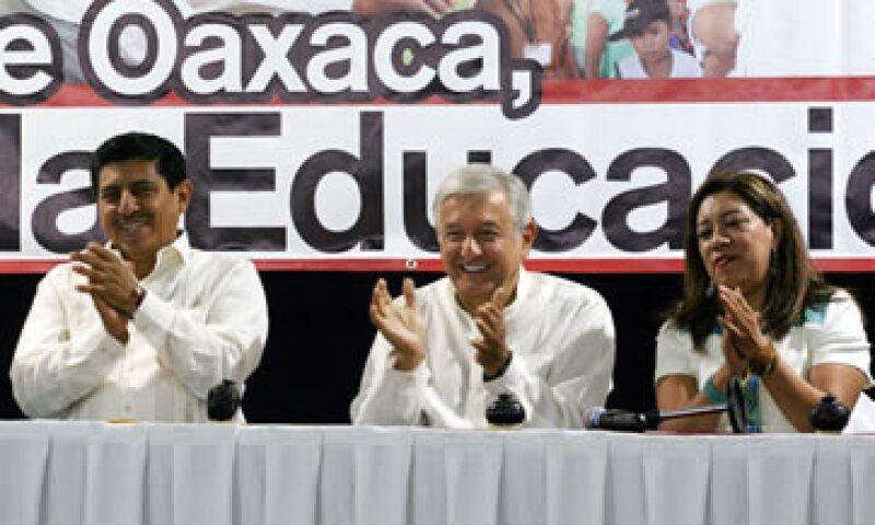 El dirigente de la CNTE, Rubén Núñez desmintió el acuerdo político de López Obrador. (Foto: Notimex)