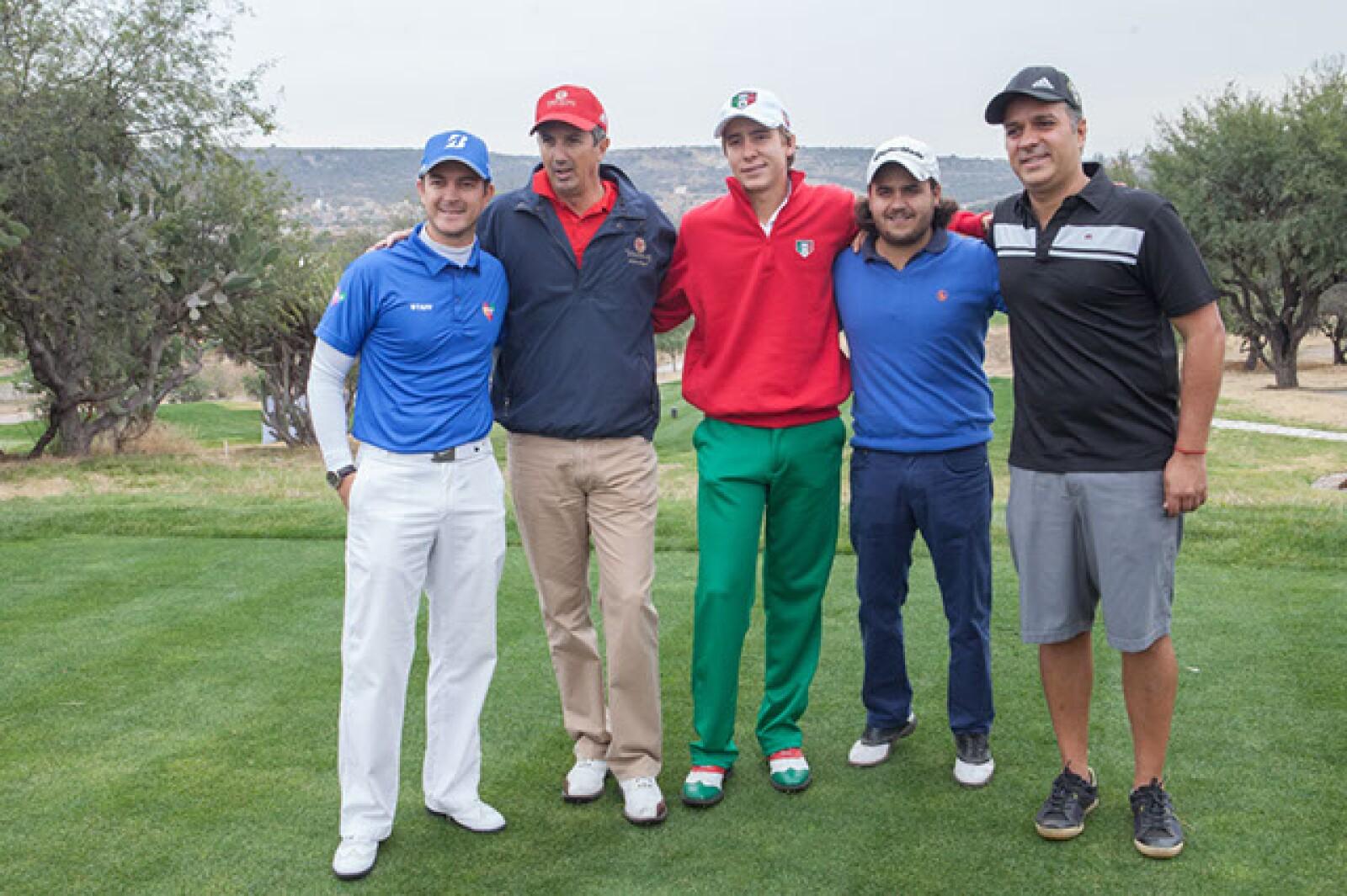 Febrero del Moral,José Antonio Hernández,Carlos Ortiz,Jesús Martínez y José Padilla